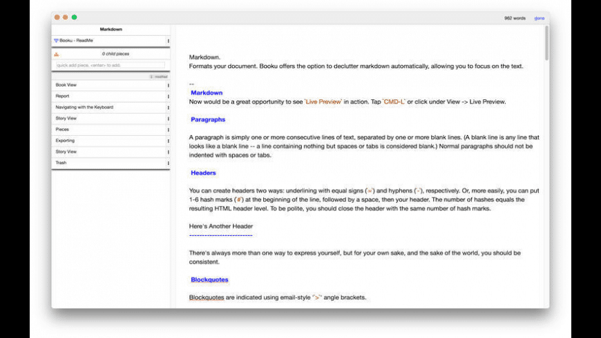 Booku for Mac - review, screenshots