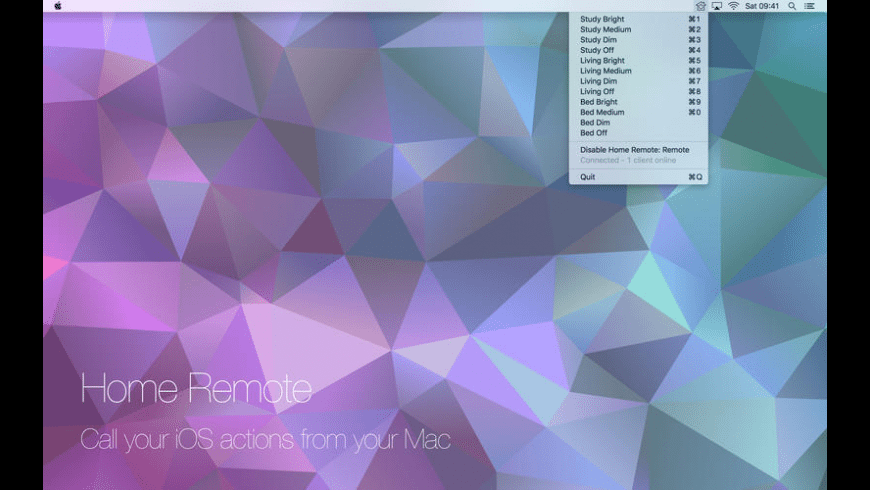 Home Remote - Activator for Mac - review, screenshots