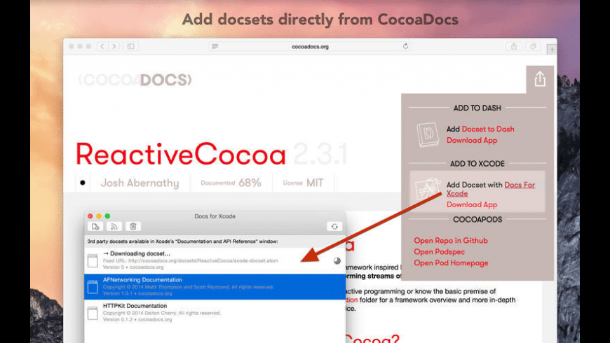 Docs for Xcode for Mac - review, screenshots