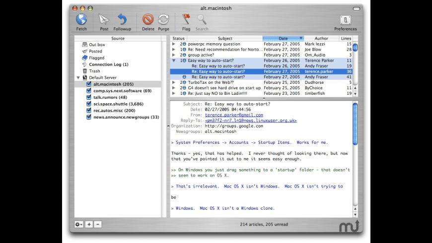 MaxNews for Mac - review, screenshots