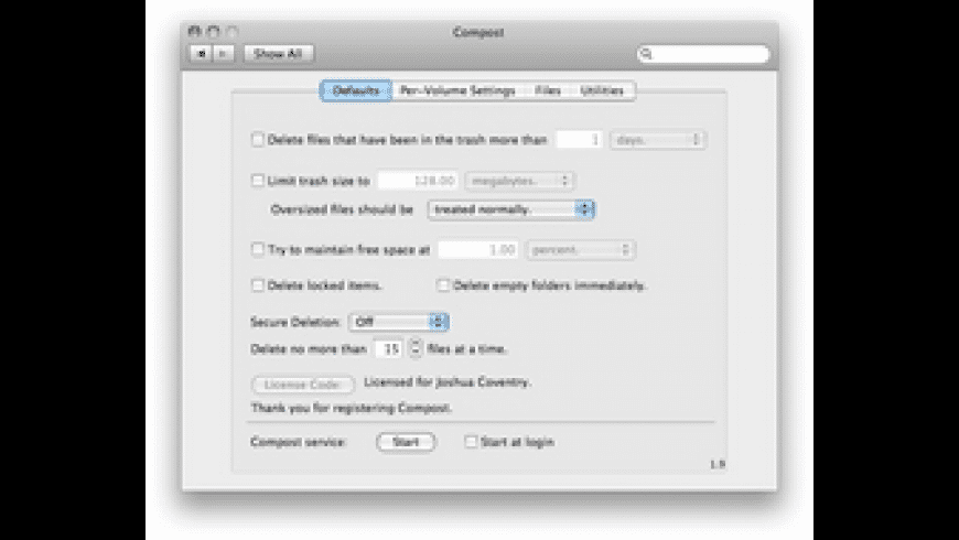 Compost for Mac - review, screenshots