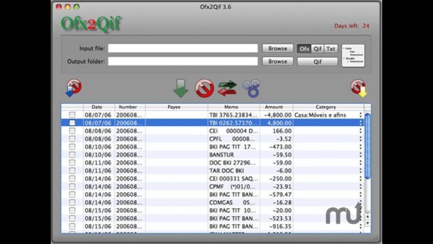 Ofx2Qif for Mac - review, screenshots