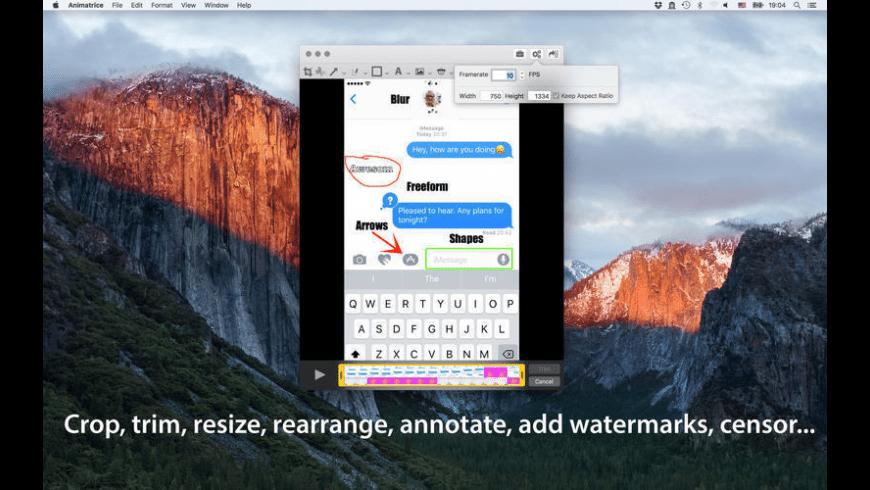 Animatrice for Mac - review, screenshots