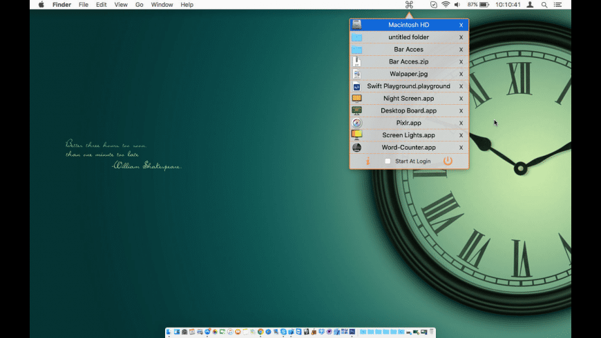 Bar Access for Mac - review, screenshots