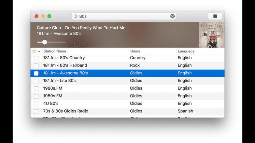 RadioApp for Mac - review, screenshots