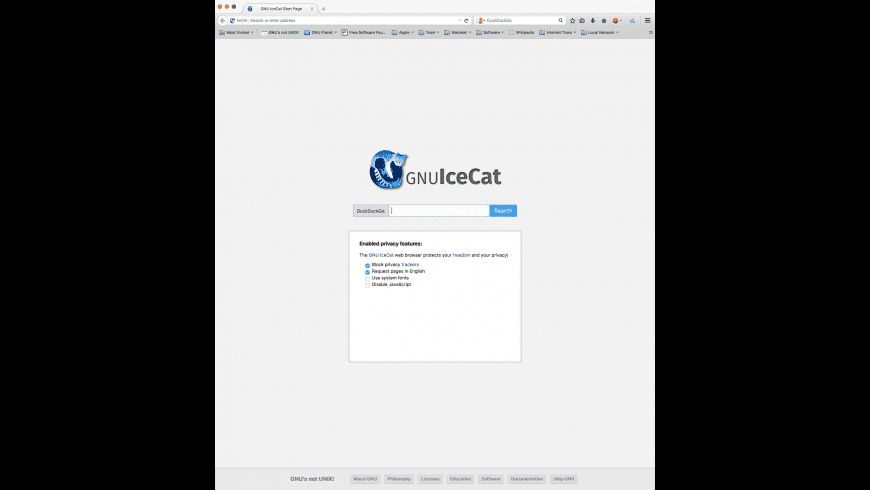 IceCat for Mac - review, screenshots