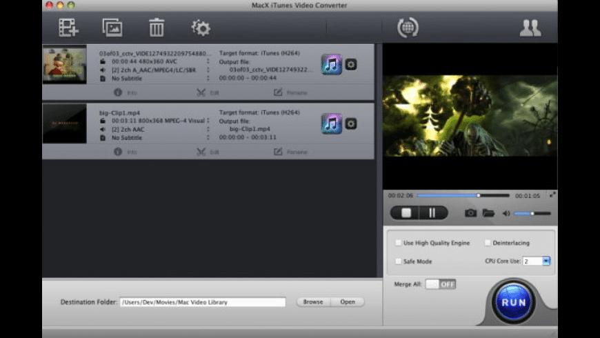 MacX iTunes Video Converter for Mac - review, screenshots