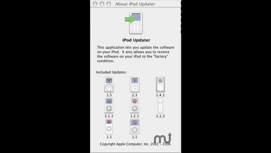 Apple iPod Updater for Mac - review, screenshots