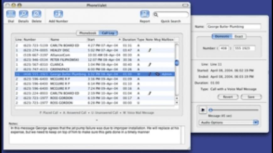 PhoneValet Message Center for Mac - review, screenshots