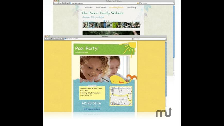 Apple iWeb for Mac - review, screenshots