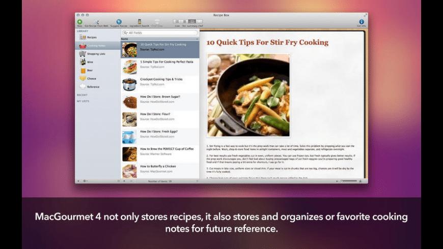 MacGourmet for Mac - review, screenshots