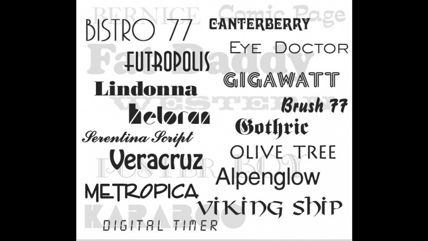 1000 Opentype Fonts Collection for Mac - review, screenshots