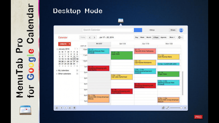MenuTab Pro for Google Calendar for Mac - review, screenshots