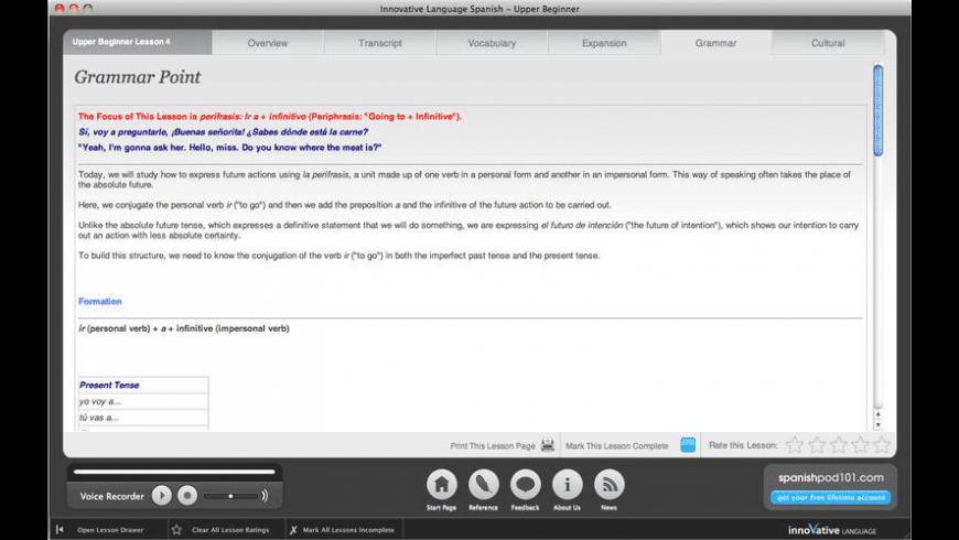Learn Spanish for Mac - review, screenshots