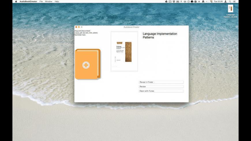 Audiobook Creator for Mac - review, screenshots