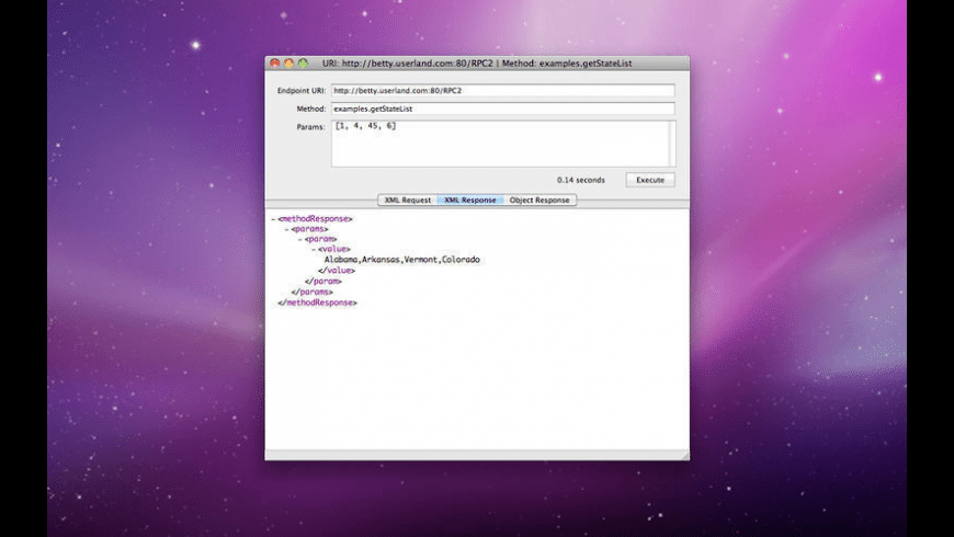 XML RPC Client for Mac - review, screenshots