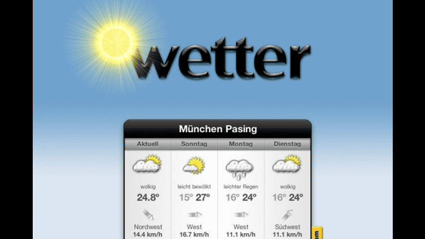 Wetter for Mac - review, screenshots