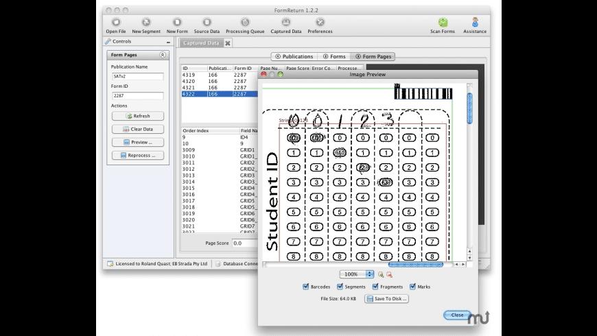 FormReturn for Mac - review, screenshots