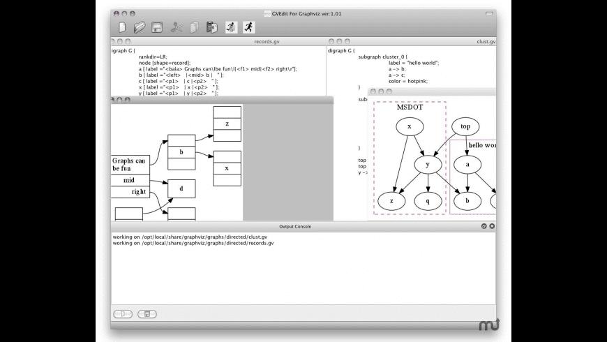 Graphviz for Mac - review, screenshots