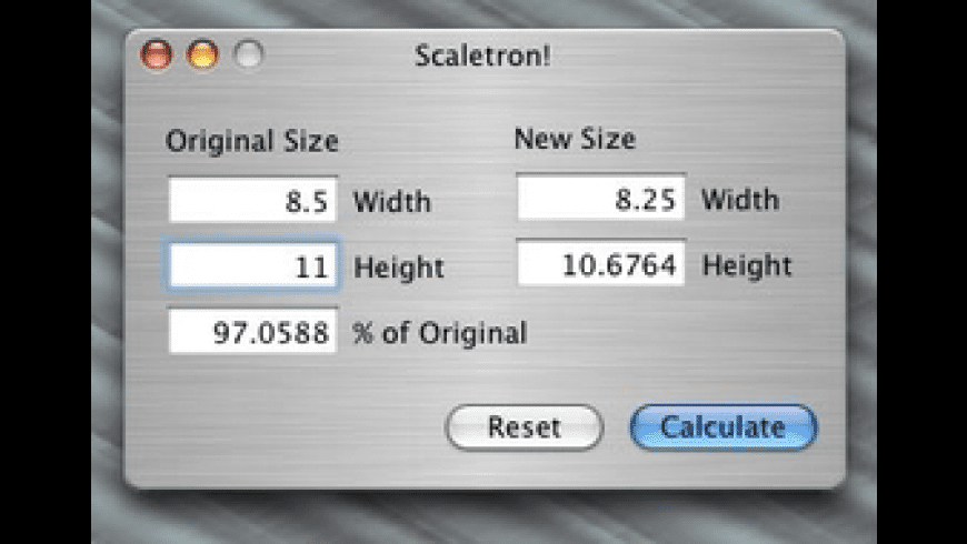 Scaletron! for Mac - review, screenshots