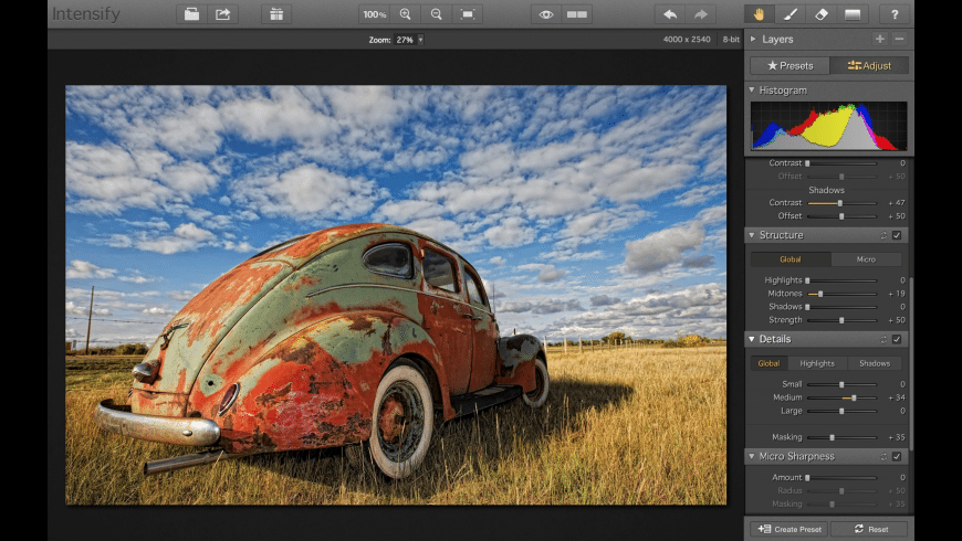 Intensify for Mac - review, screenshots