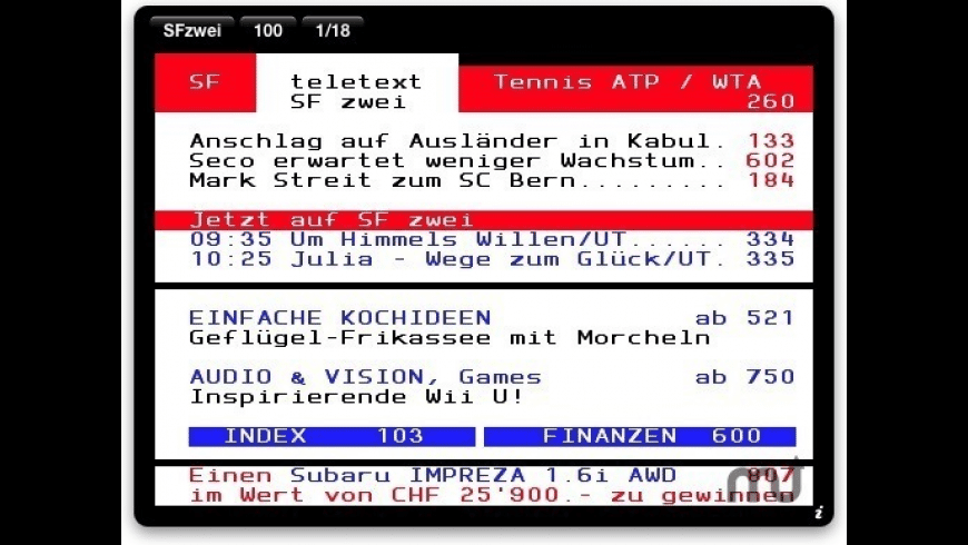 teletext for Mac - review, screenshots