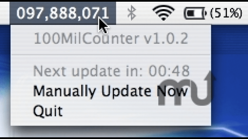 100MilCounter for Mac - review, screenshots