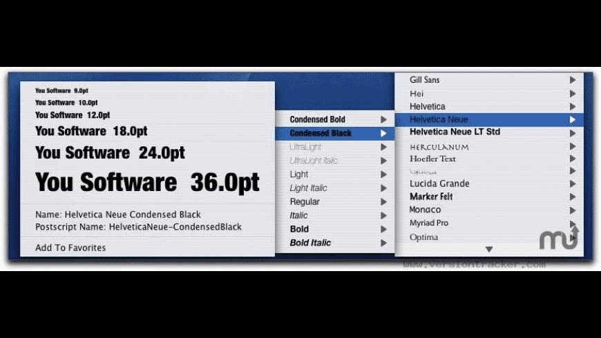 You Control: Fonts for Mac - review, screenshots