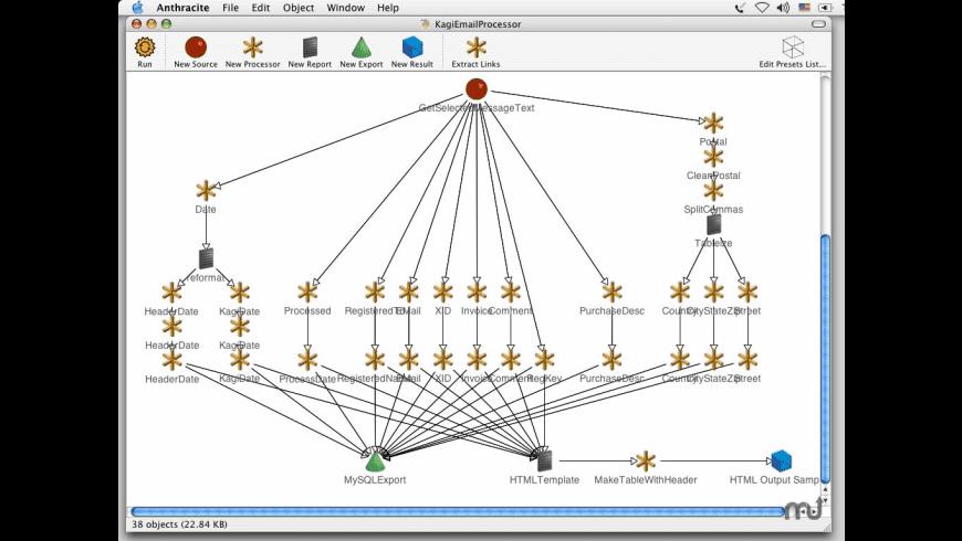 Anthracite Web Mining Desktop for Mac - review, screenshots