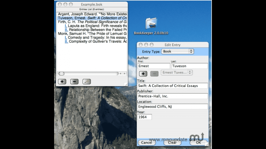 BookKeeper for Mac - review, screenshots