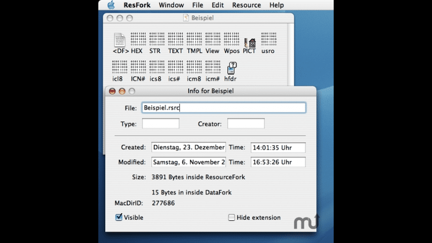 ResFork for Mac - review, screenshots