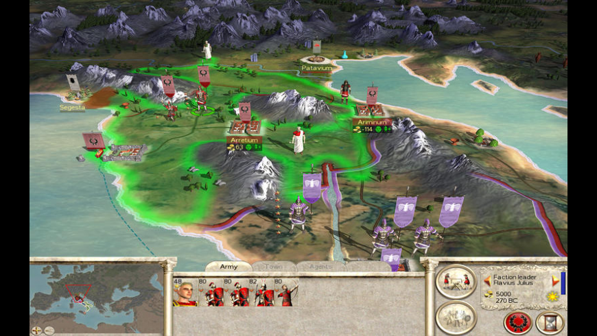 Rome Total War Gold Edition for Mac - review, screenshots