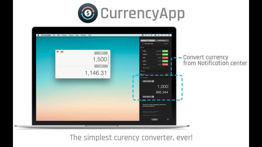 CurrencyApp for Mac - review, screenshots