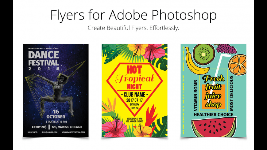 Flyer Templates for Photoshop for Mac - review, screenshots