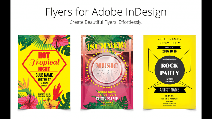 Flyer Templates for InDesign for Mac - review, screenshots
