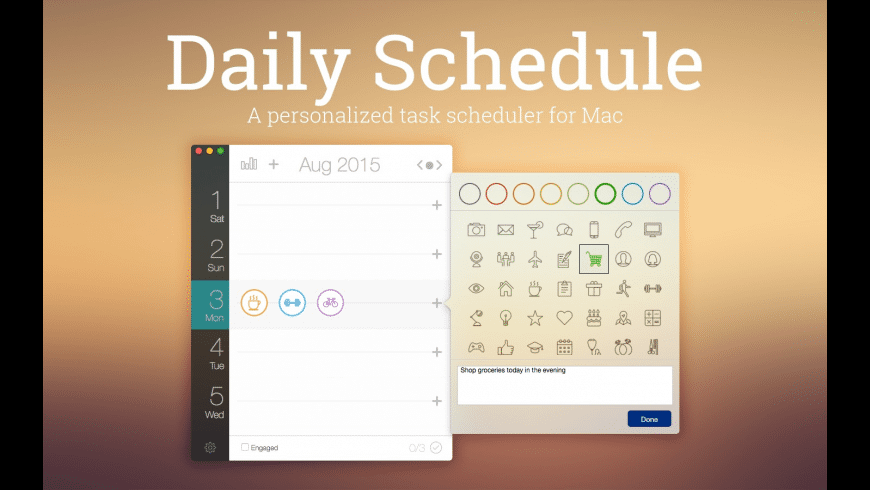 Daily Schedule for Mac - review, screenshots