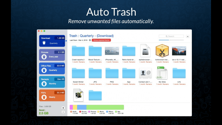 AutoTrash for Mac - review, screenshots