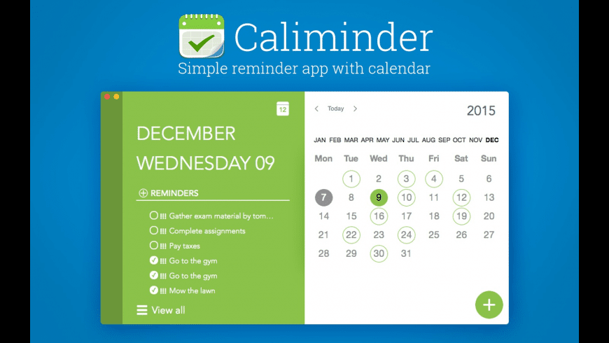 Caliminder for Mac - review, screenshots