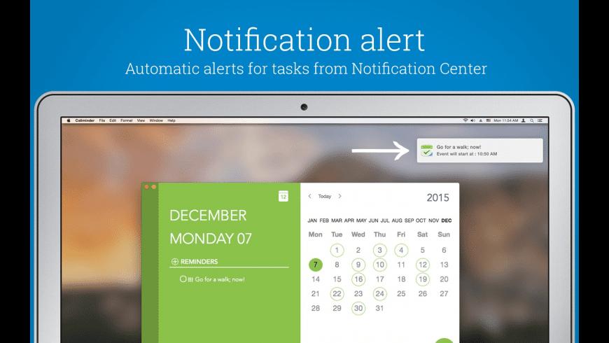 Caliminder for Mac - review, screenshots