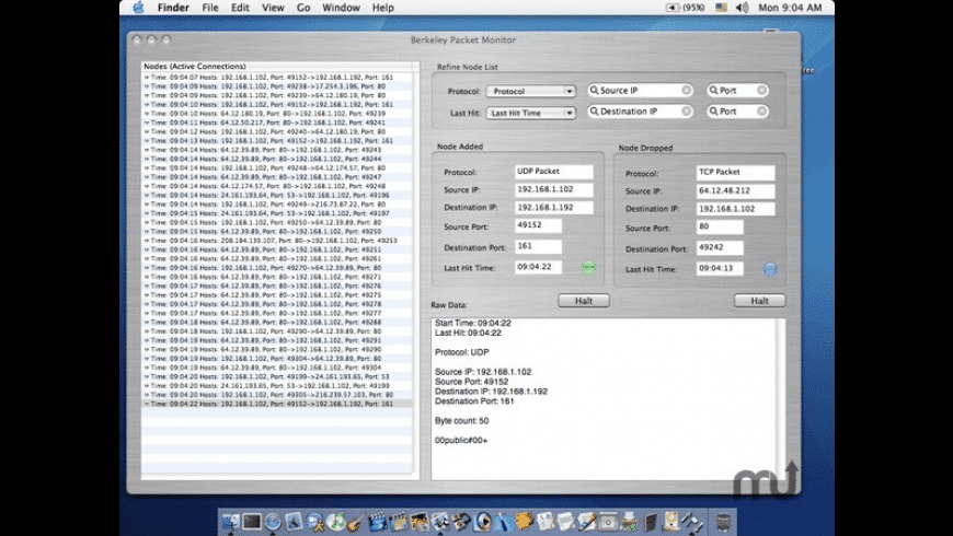 Berkeley Packet Monitor for Mac - review, screenshots
