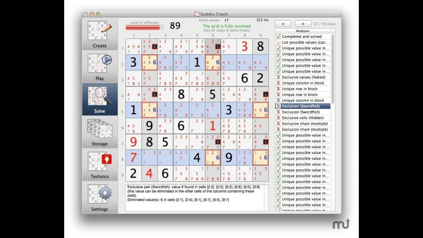 Sudoku Coach for Mac - review, screenshots