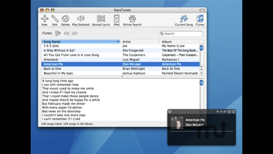 KaraTunes for Mac - review, screenshots