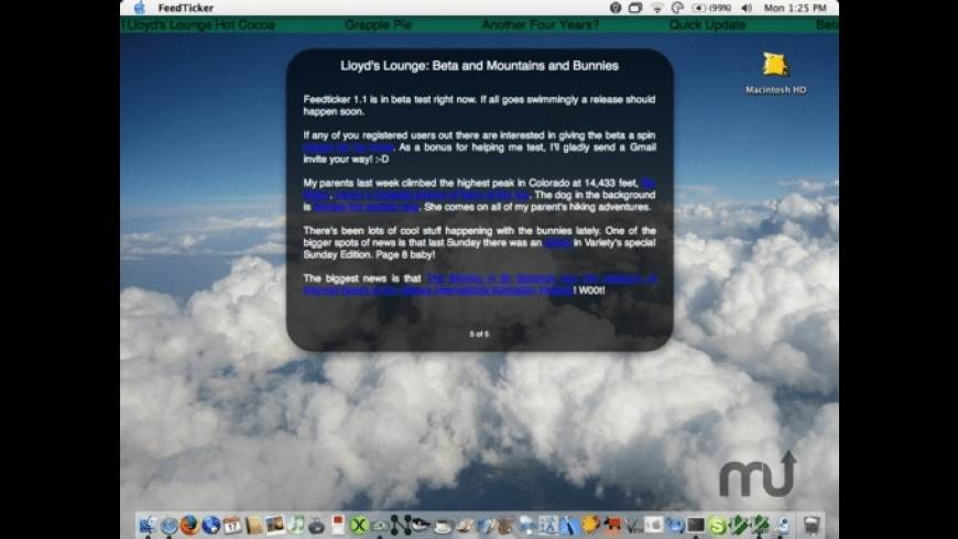 FeedTicker for Mac - review, screenshots