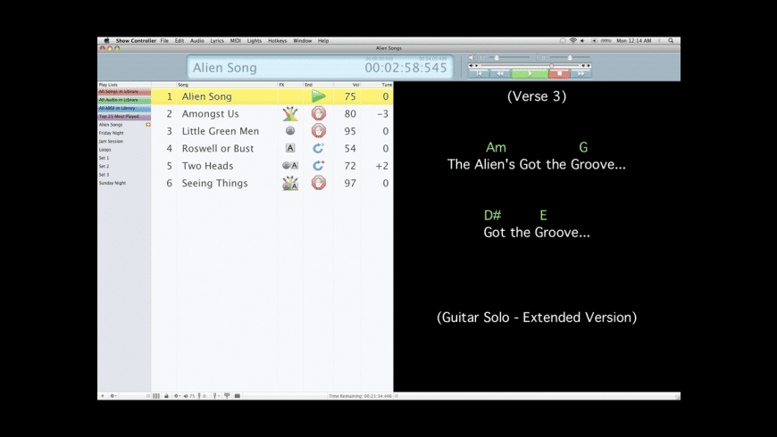 Solo Performer Show Controller for Mac - review, screenshots