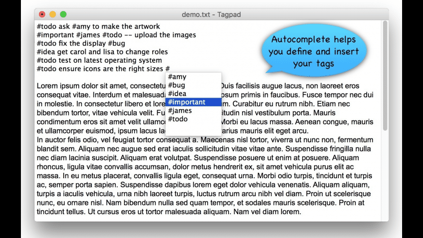 Tagpad for Mac - review, screenshots