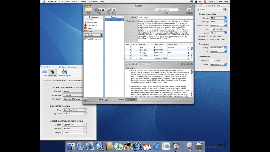 iCuistot for Mac - review, screenshots