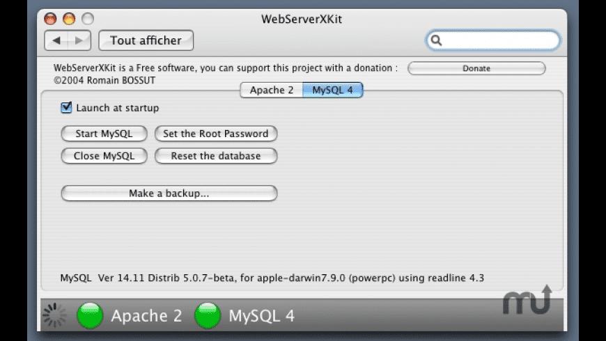 WebServerX Kit for Mac - review, screenshots