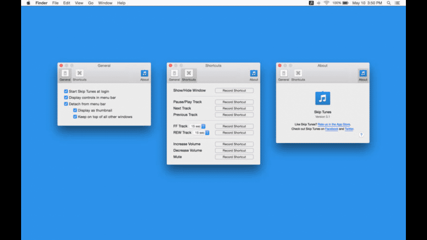 Skip Tunes for Mac - review, screenshots