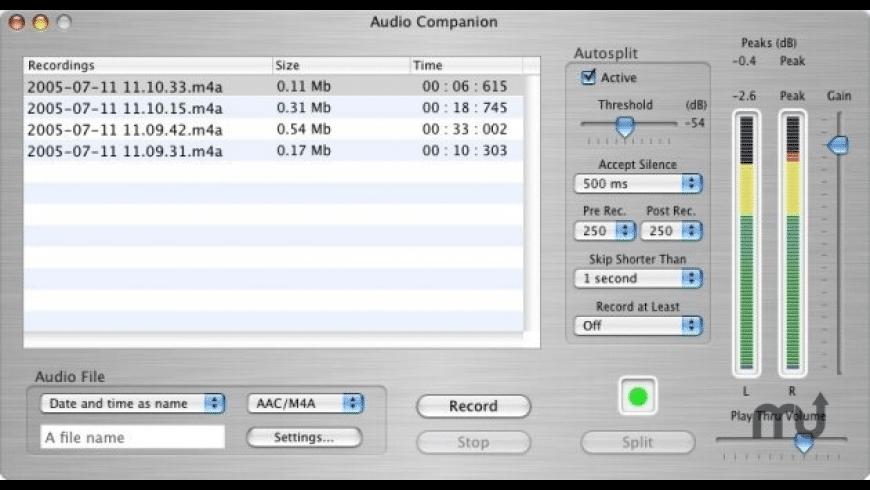 Audio Companion for Mac - review, screenshots
