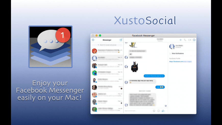 XustoSocial for Mac - review, screenshots